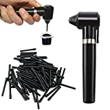 Electric Tattoo Ink Mixer Tattoo Pigment Agitator Tattoo Machine Supply Tool Eyebrow Color Watercolor Ink Painting Pigment Makeup Liquid Agitator Machine With 100 Mixing Sticks Set (Black)