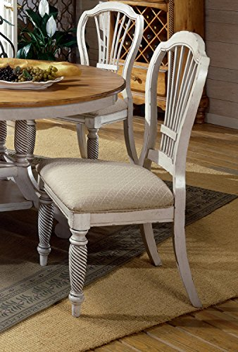 Wilshire Antique Pine Finish (Wilshire Antique White Dining Chairs - Set of 2)