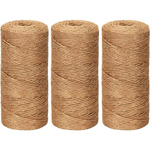 Pangda 984 Feet Cotton Baker Twine 2 mm Valentine's Day Christmas Wrapping String Rope for DIY Craft, 3 Colors (Original Color)]()