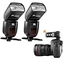 Pixel X800C Por FSK2.4GHz Wireless Camera Flash Speedlite Kit with ETTL/M/MULT 1/8000s HSS for Canon DSLR Cameras- Includes:2pcs X800C Pro Flash +1pcs King PRO Wireless TTL Trigger and Accessories