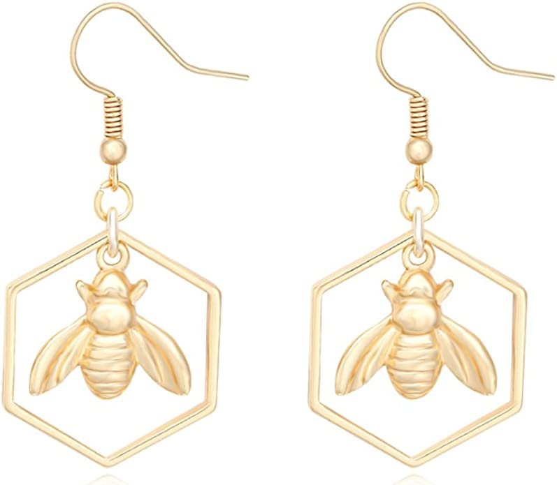 Raw Citrine Earrings Wire Wrapped Citrine Earrings Honey Bee Earrings Bumble Bee Earrings