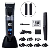 Hatteker Cordless Hair Trimmer Pro Hair clippers Beard Trimmer Haircut Kit for Men