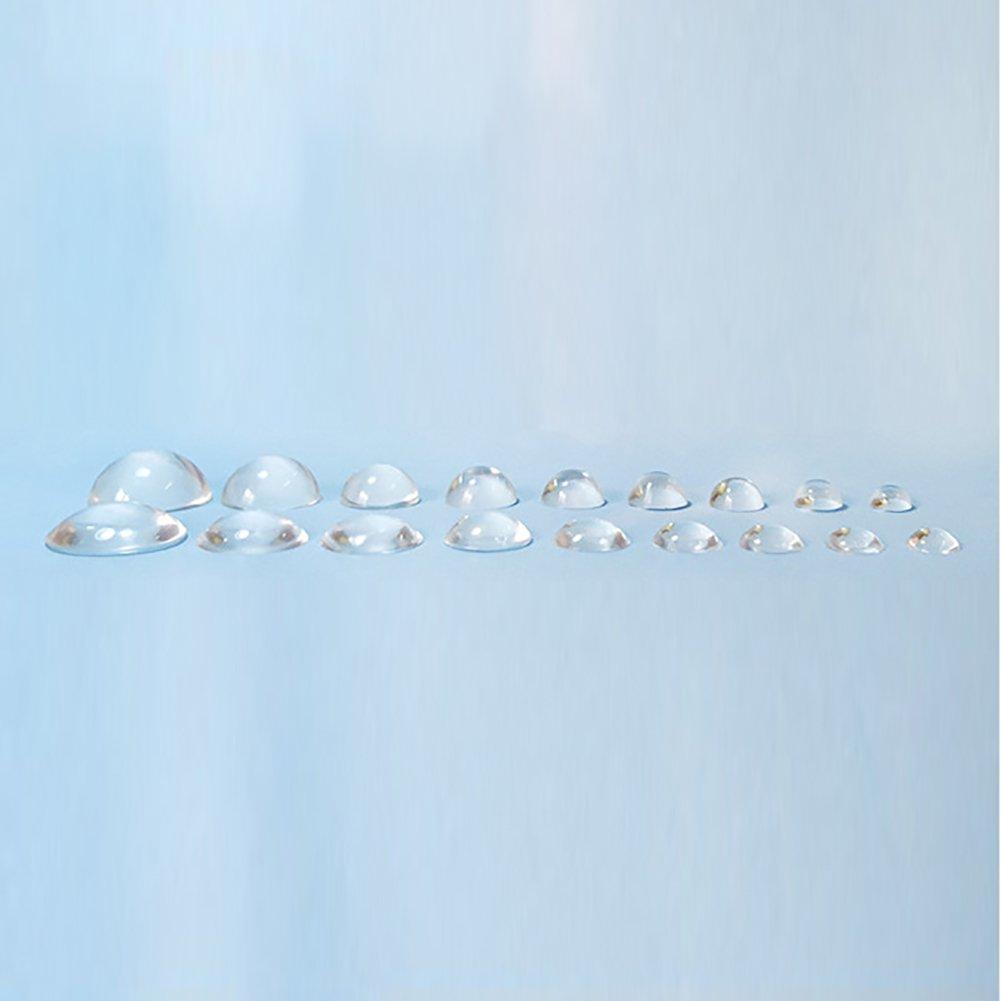 Big Semi Ball Shape geshiglobal semisfera cabochon Quadrato Waterdrop Shape Silicone DIY Mold Ciondolo Resina Muffa