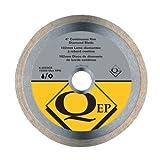 QEP 6-4003Q  Continuous Rim Diamond Blade, 4-Inch Diameter, 5/8-7/8-Inch Arbor, Wet Cutting, 9500 Maximum RPM
