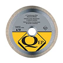 QEP 6-4003Q  Continuous Rim Diamond Blade, 4-Inch Diameter, 5/8-7/8-Inch Arbor, Wet Cutting, 9500 Maximum RPM