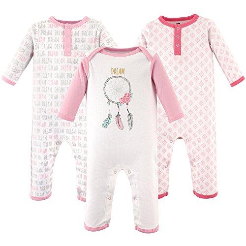 Hudson Baby Baby Cotton Union Suit, 3 Pack, dream catcher, 9 Months