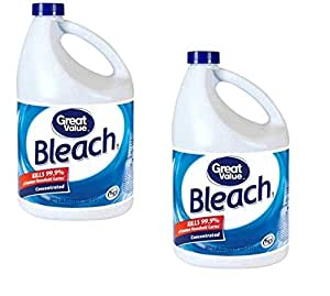 Great Value Bleach | 33% More Concentrated | Kills Viruses That Cause Colds and Flu, 121 fl oz (2)