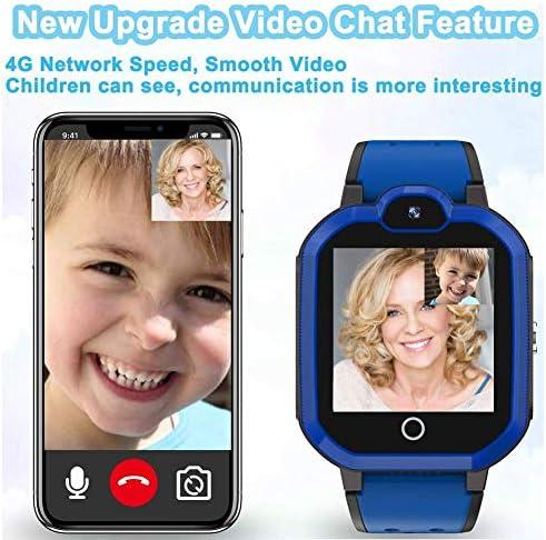 Hiwava Waterproof Kid Smart Watch 4G Phone Tracker GPS Camera Kids Smart Watches Phone Games Child Smart Watch New 4G Alarm Clock SOS Pedometer