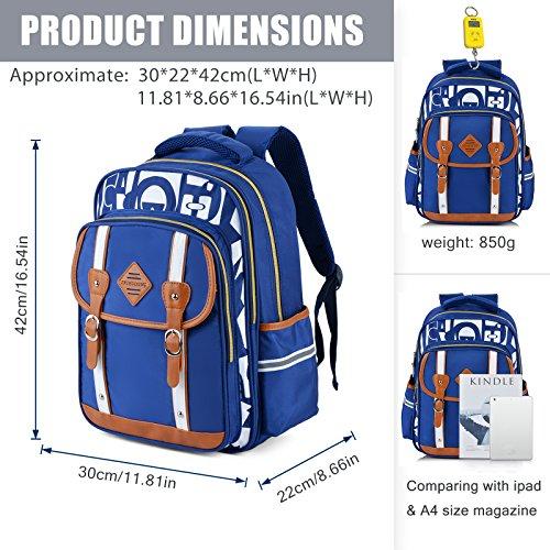 Backpack Kid,Bageek School Bags Backpacks for School Bookbag Rucksack Backpack Waterproof Backpack(blue) by Bageek (Image #6)