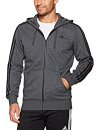 Men's Essentials 3-Stripe Full Zip Fleece Hoodie