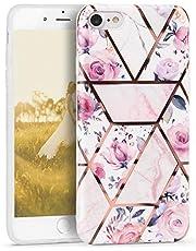 Oihxse Nuevo Flores Case Compatible con iPhone 11 Pro Funda Marmol Silicona Gel Enchapado TPU Anti-Rasguño Protección Cáscara Lindo Rose Ultra Delgado Cover Caja Bumper (A4)