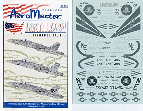 (Aero Master Decals 1:48 US Constellation 2001 F/A-18C Pt.I #48-561)