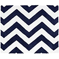 Sweet Jojo Designs Navy and White Chevron Collection Zig Zag Accent Floor Rug