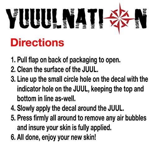 YuuulNation Original Juul Skin, 3m Durable Vinyl, Full Fit Coverage
