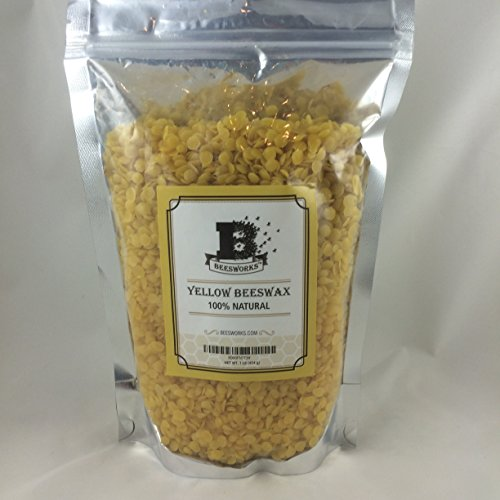 Large Product Image of Beesworks® BEESWAX PELLETS, YELLOW, 1lb-Cosmetic Grade-Triple Filtered Beeswax. Must Have For Many Different Projects