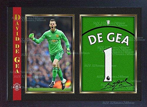 S&E DESING David De GEA Signed Manchester United Autograph Print Framed