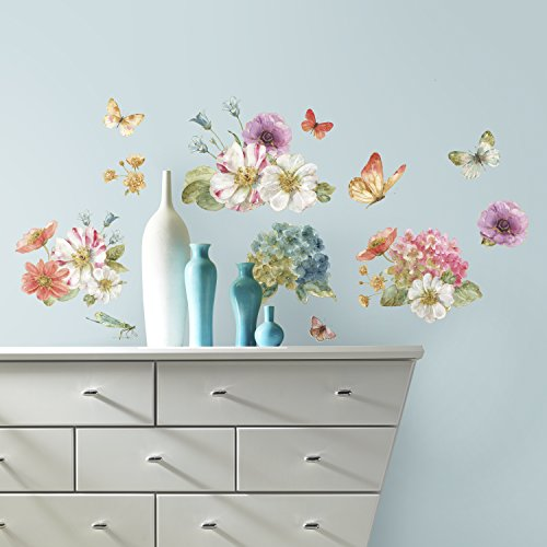 RoomMates Lisa Audit Garden Bouquet Peel And Stick Wall Decals ()