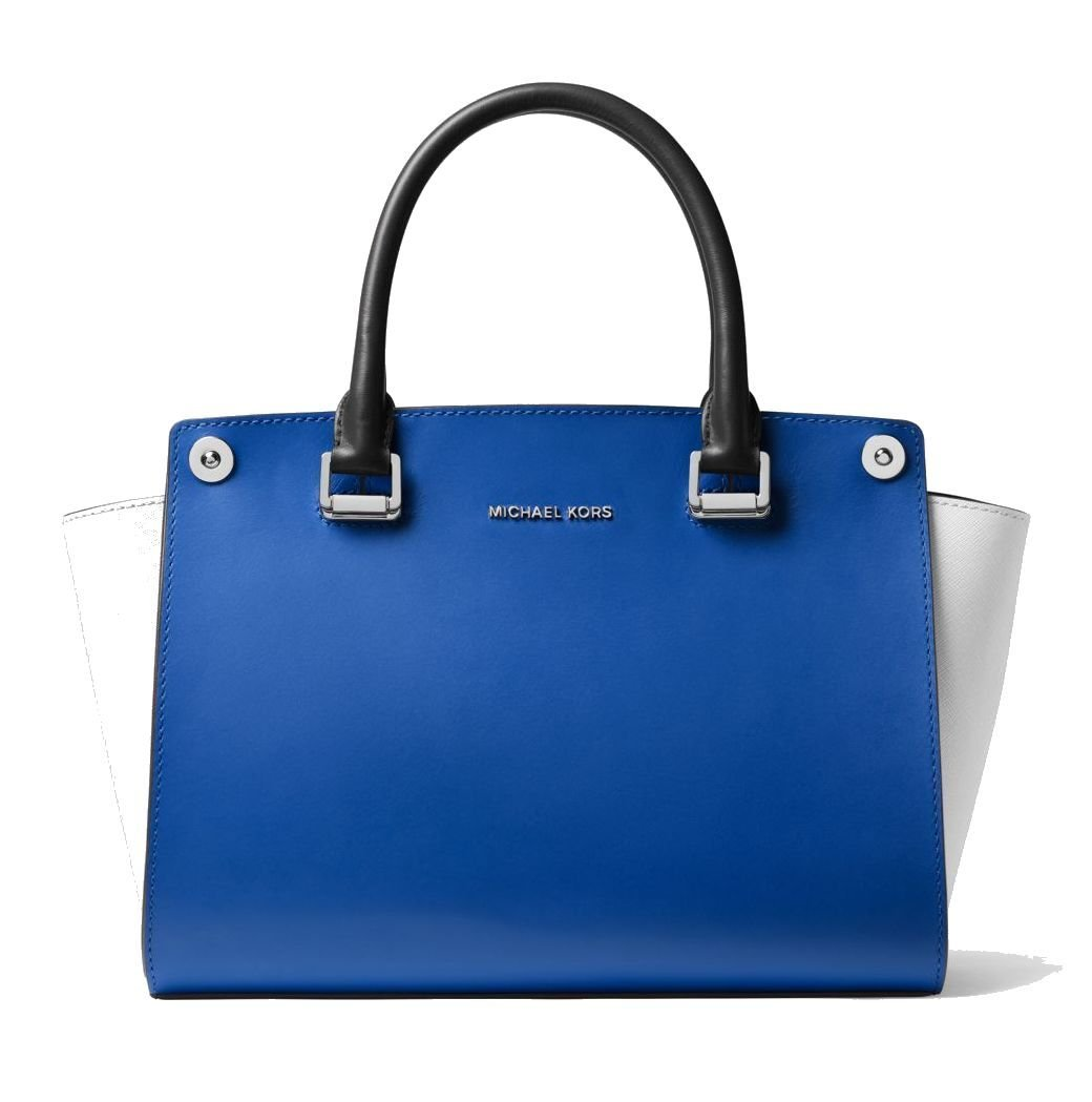 Michael Kors Selma 3-in-1 Swap Leather Bag,FREE Swap Included, Electric Blue, Bright Red by MICHAEL Michael Kors