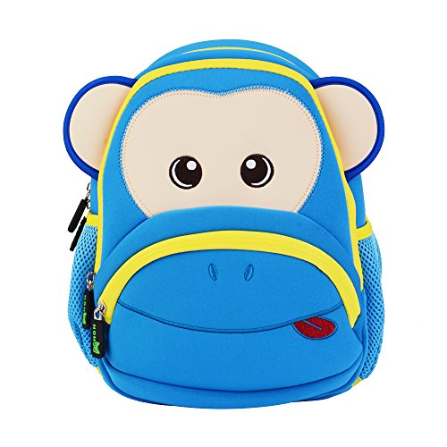 Amazon.com | Cute Monkey Kids Pack Toddler Girls Boys Sidekick Backpacks, Blue | Kids Backpacks