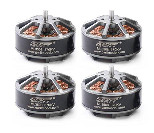 GARTT 4PCS ML3508 370KV Brushless Motor For RC FPV Drones Quadcopter Hexacopter Multirotor by GARTT