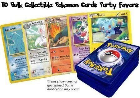 Pokemon Center 110 Bulk Collectible Pokemon Cards Party Favors