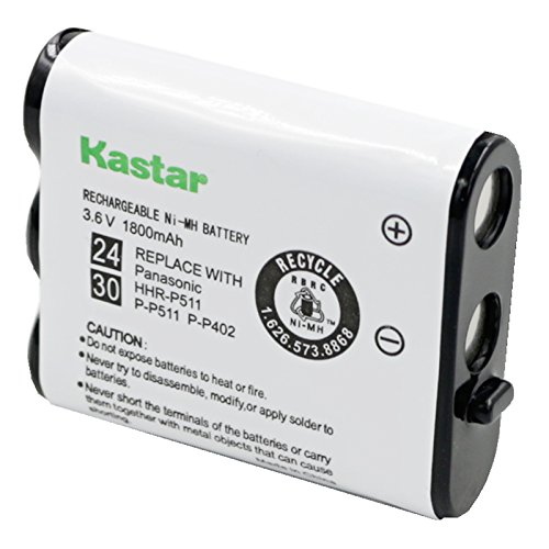 Kastar Battery Replacement for Panasonic N4HKGMA00001 Cordless Phone Battery and Panasonic P-P511, HHR-P511, Type 24 Rechargeable - Radio New Phone Battery