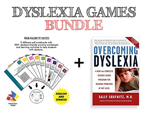 Dyslexia Games workbooks (Series A; Books 3, 4, 5, and 6) - new, unused