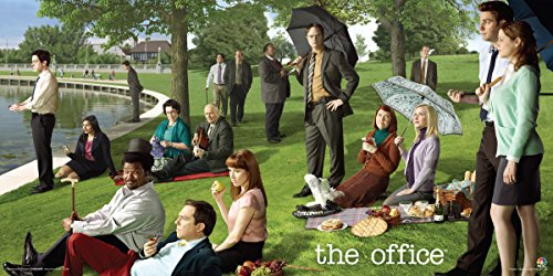 Culturenik The Office Georges Seurat Painting (Dunder Mifflin) Cast Group Workplace Comedy TV Television Show Print (Unframed 12x24 - Show Tv Poster
