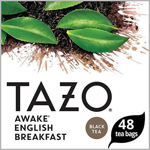 Tazo Tea Bags, Awake English Breakfast Black Tea, 48 Count (Pack of 4 ) - Packaging may vary (Real English Tea)