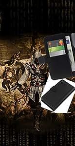 LECELL--Cuero de la tarjeta la carpeta del tirón Smartphone Slots Protección Holder For Sony Xperia Z3 D6603 -- Ataque Asesinos --