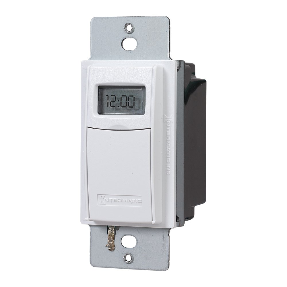 Intermatic EI400WC Programmable Electronic Countdown In-Wall Timer, White