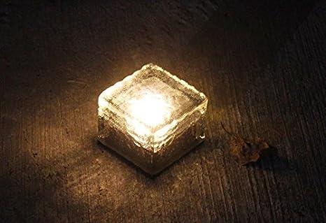 Luce led di mattoni illuminazione del paesaggio luci solari del