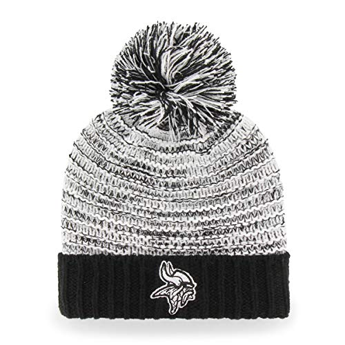 - OTS NFL Minnesota Vikings Female Sansa Cuff Knit Cap, Black, Women's