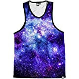 INTO THE AM Stardust Men's Sleeveless Tank Top Shirt (Medium)