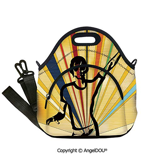 AngelDOU Indie Fashoniable Work Lunch Bags Retro Style