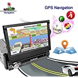 Ezonetronics Android 6.0 Quad Core Car Radio Stereo 7 inch Capacitive Touch Screen High Definition 1024x600 GPS Navigation USB SD Player 2G DDR3 + 16G NAND Memory Flash CT0023