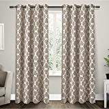 Exclusive Home Gates Sateen Blackout Thermal Grommet Top Curtain Panel Pair, Taupe, 52x84