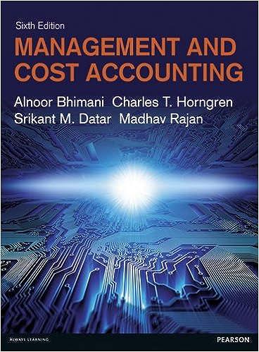 Management cost accounting alnoor bhimani 9781292063461 management cost accounting 6th edition fandeluxe Gallery