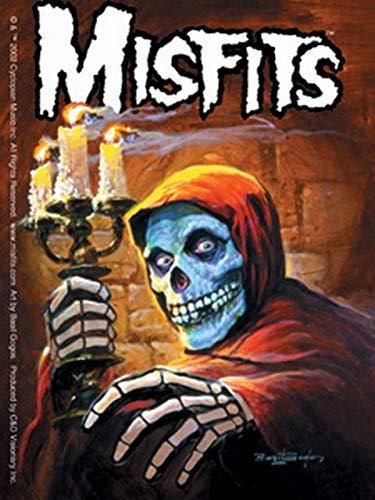 CD Visionary Misfits Candleabra & Skeleton Sticker S-1710 - Misfits Crimson Skeleton