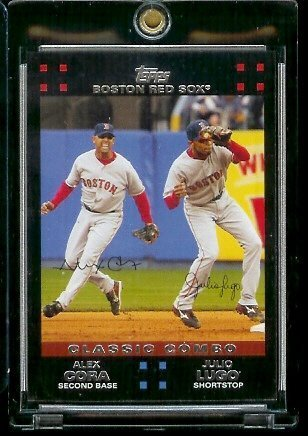 2007 Boston Red Sox LIMITED EDITION Team Edition Baseball Card # BOS42 Alex Cora - Julio Lugo