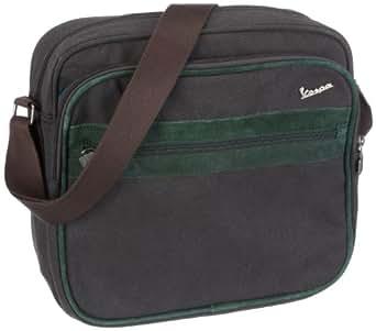 adidas S VESPA SIR - Bolso bandolera, color negro y verde oscuro