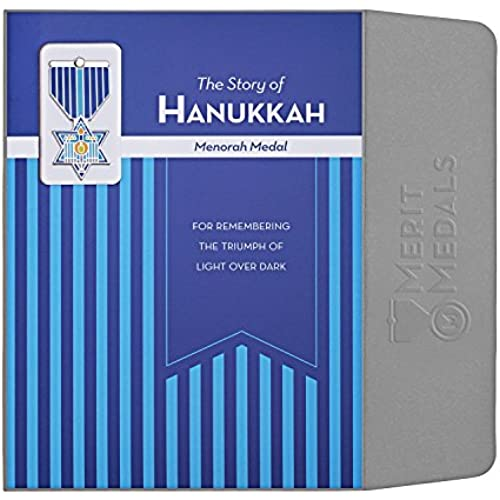 HANUKKAH Greeting Card & Gift (Lapel Pin / Necklace Charm) Holiday Thank You Note by Merit Medals Sales