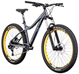 "Diamondback Bicycles Women's Rely 27.5 Plus Hardtail Mountain Bike, 17""/Medium, Silver"