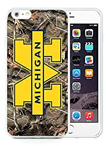 Superior Custom Design Ncaa Big Ten Conference Football Michigan Wolverines 11 White Case For iPhone 6 Plus TPU 5.5 inch