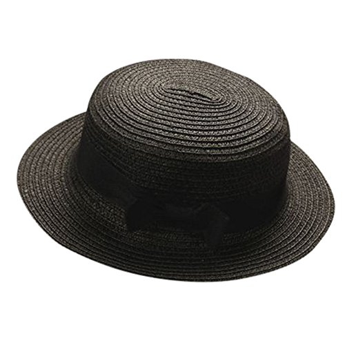 Boy Girls Bowknot Hat Summer Straw Hat Kids