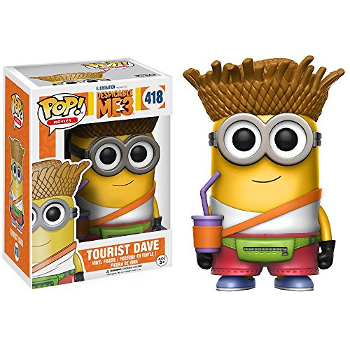 Funko Tourist Dave POP! Movies x Despicable Me 3 Vinyl Figure + 1 Free CG Animation Themed Trading Card Bundle (13426) ()