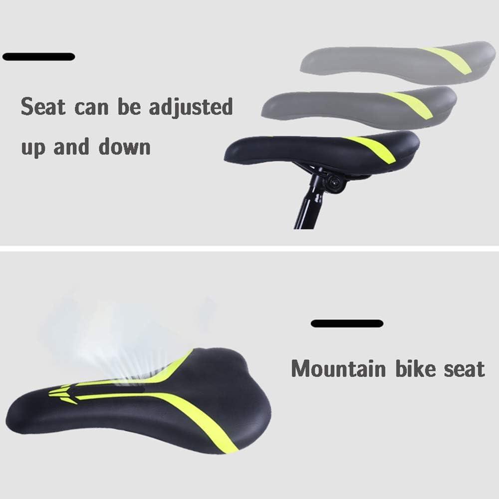 16, 18, vélos 20 Pouces, adapté aux vélos for Enfants de 4-10 Ans, Cadre intégré Alliage de magnésium, sièges réglables, garçons et Filles vélos ANJT Green