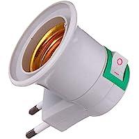 Adaptador Tomada Soquete E27 p/Lampada Bivolt Chave Liga Desliga