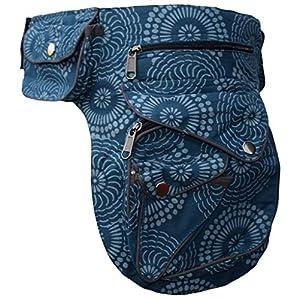 Gheri - Riñonera de algodón con bolsillos con cierre a presión, para viajar | DeHippies.com
