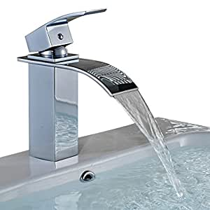 BONADE Grifo Monomando elegante, Cascada, para lavabo